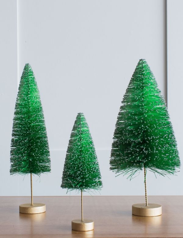 Green Glitter Christmas Tree - Three Sizes Available