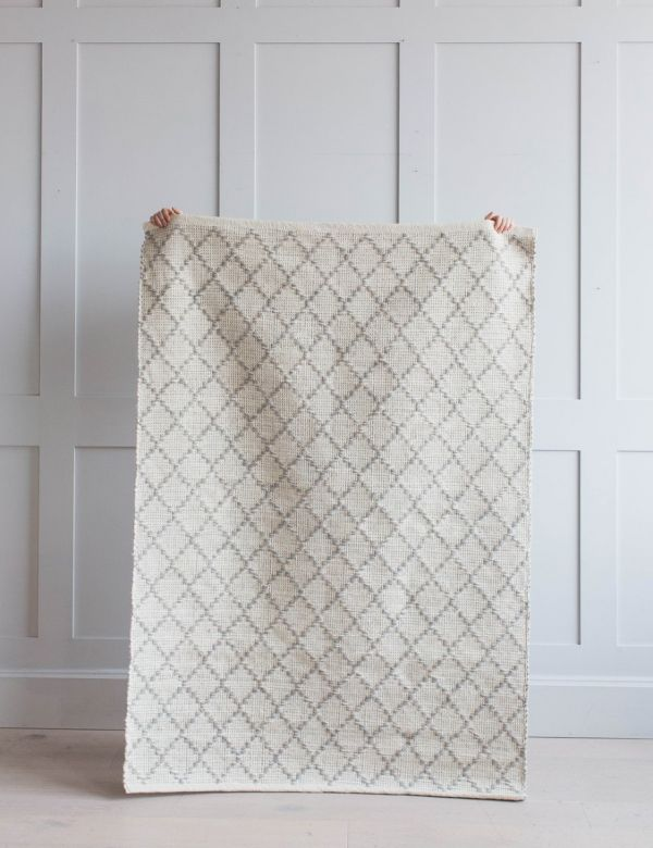Grey Geometric Rug - Small