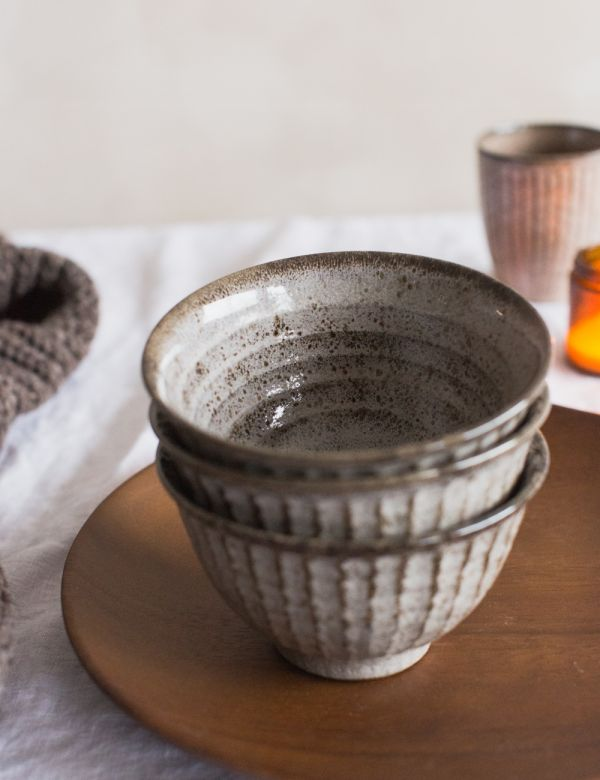 Grey Stoneware Bowl