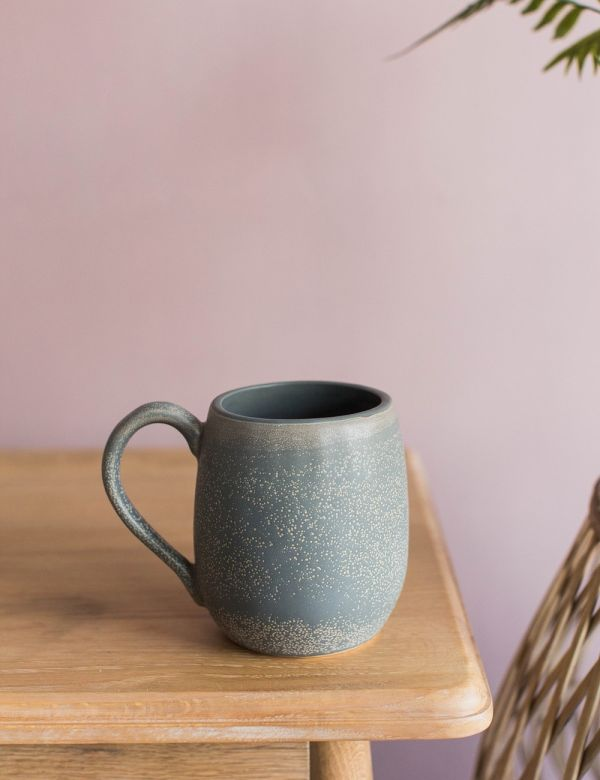 Grey Stoneware Large Mug