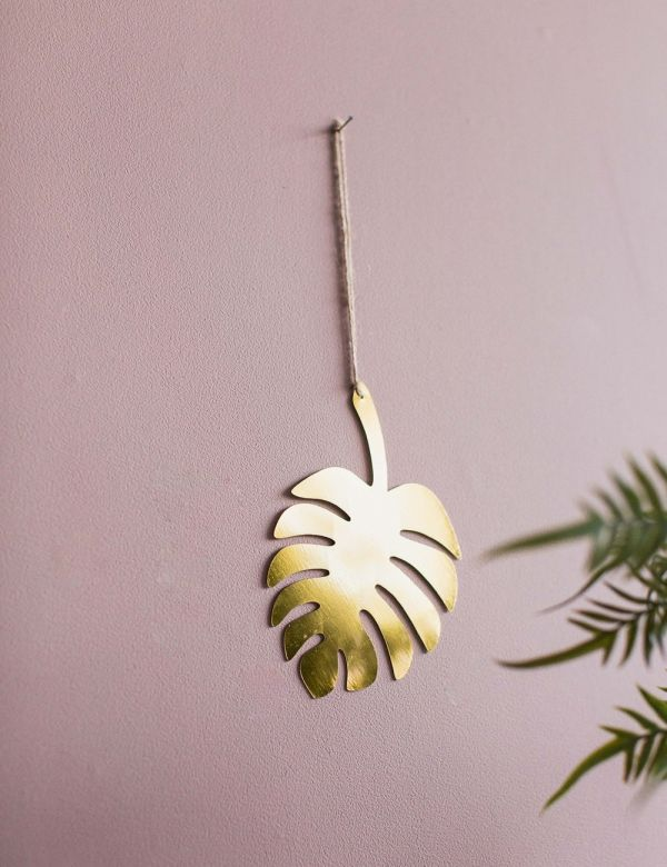 Hanging Gold Leaf Decoration