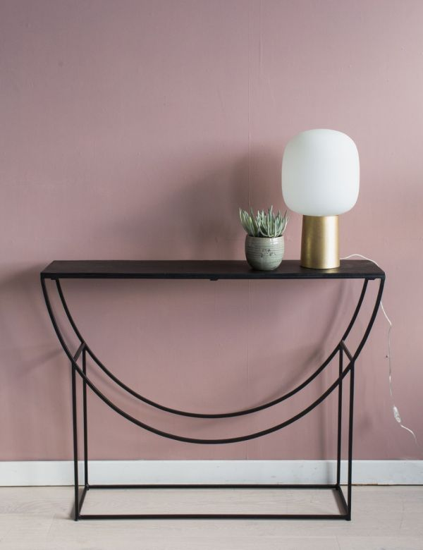Iron Sculptural Console Table