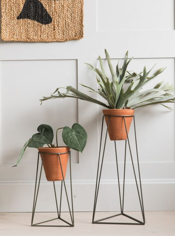 Jara Terracotta Plant Stand - Two Sizes Available
