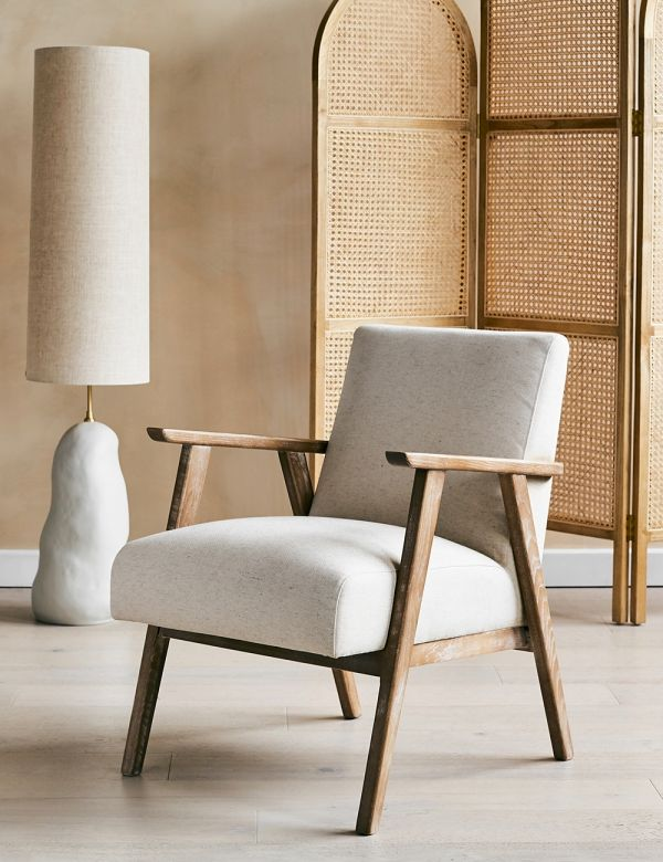 Jessica Natural Linen Armchair