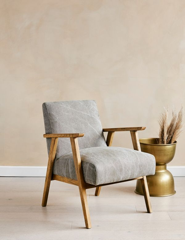 Jessica Pebble Linen Armchair