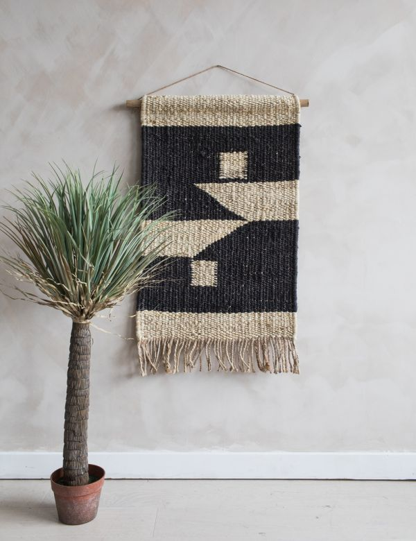 Kilbo Hemp Wall Hanging - Block Print