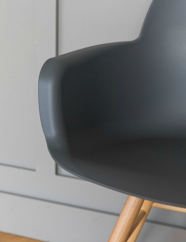 Albert Kuip Dining Chair with Arms - Grey by Zuiver
