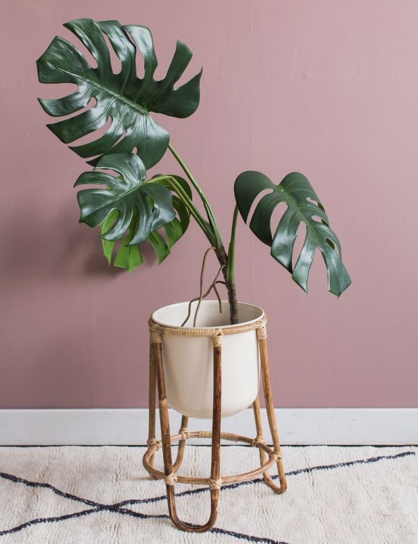 Plant Stand with Bamboo Legs