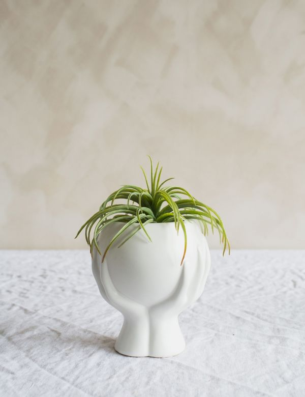 Large Hands Vase - White