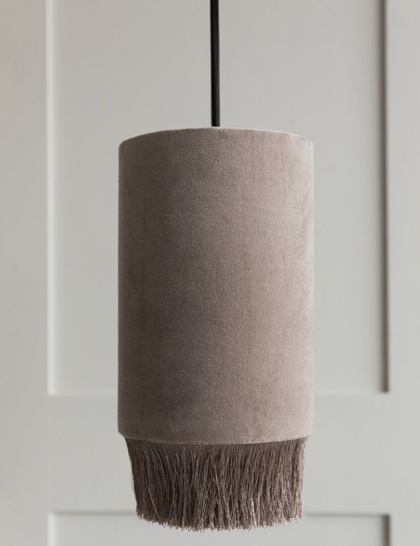 Velvet Fringed Ceiling Lamp