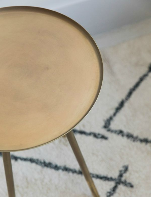 Lola Brass Side Table by Dutchbone