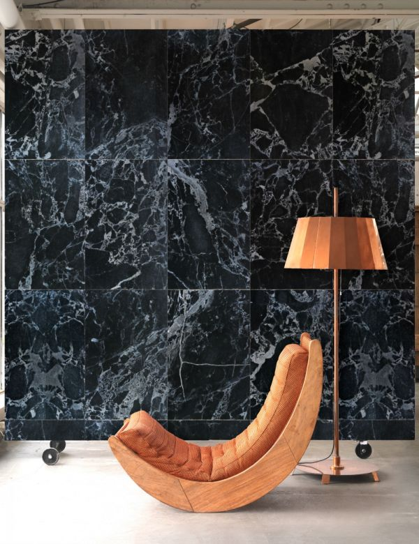 PHM-51A Black Marble Wallpaper By Piet Hein Eek