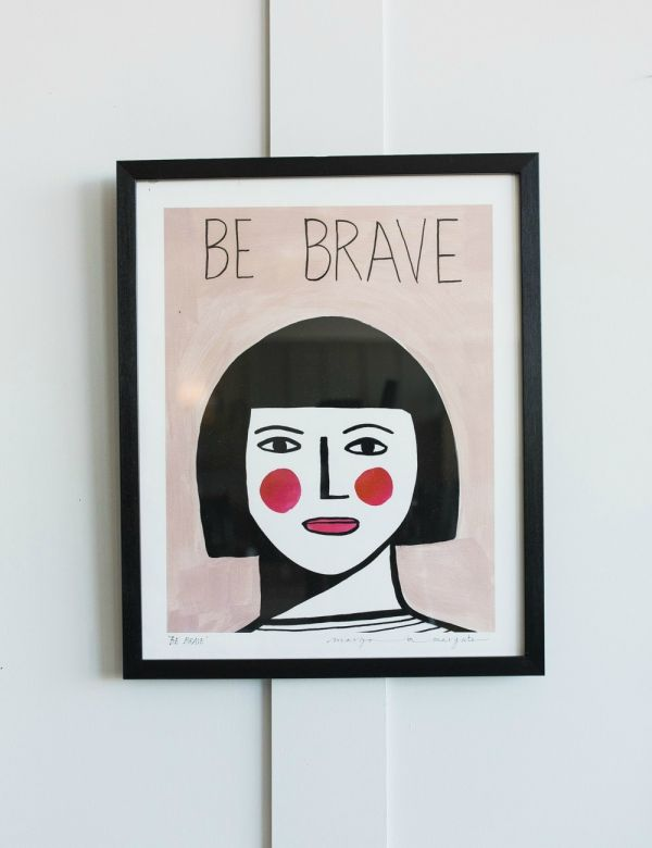 Margo in Margate Exclusive Be Brave Print