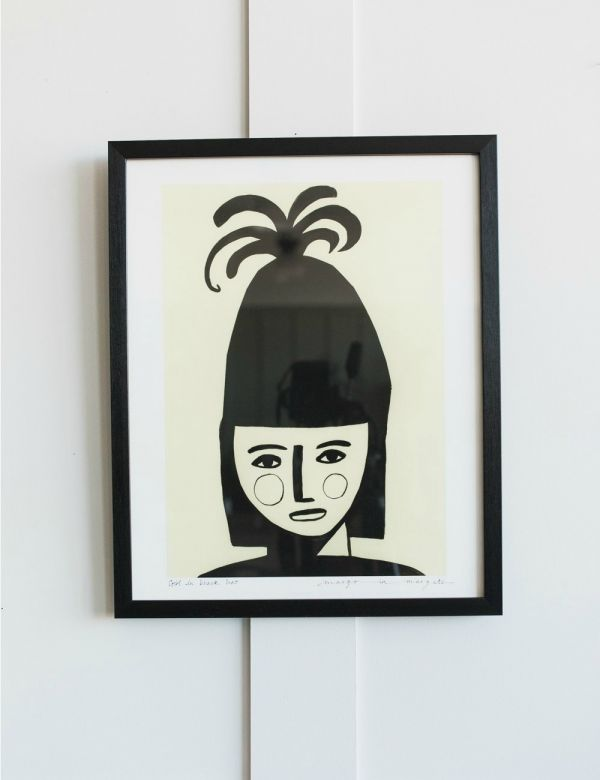 Margo in Margate Exclusive Girl in Black Hat Print