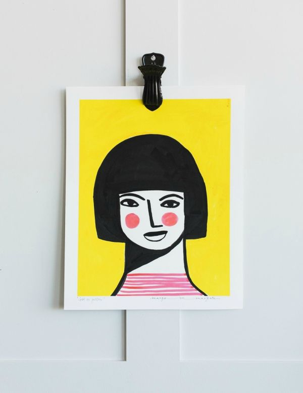 Margo in Margate Exclusive Girl on Yellow Print