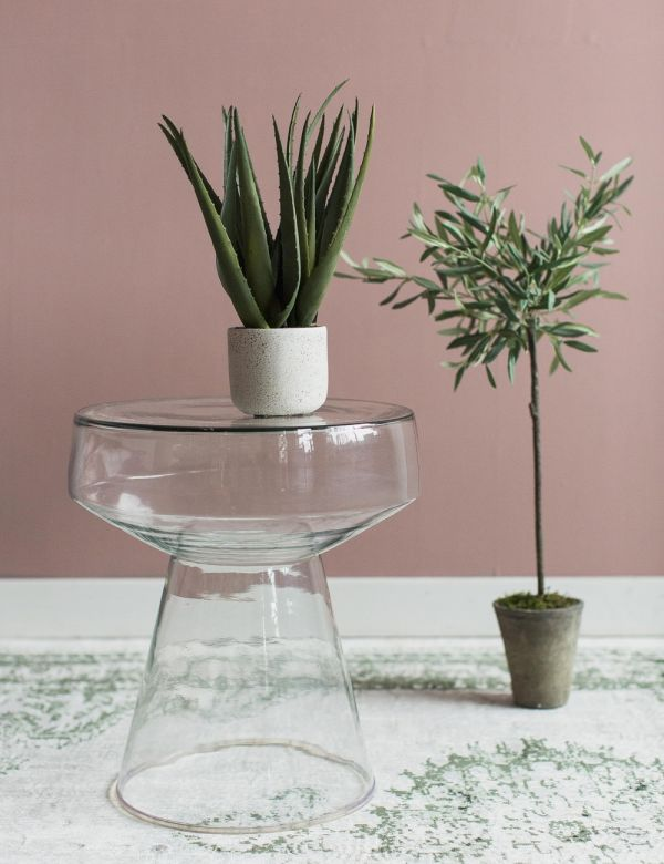 Melissa Glass Side Table