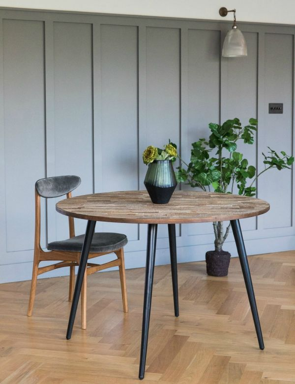 Recycled Teak Circular Dining Table
