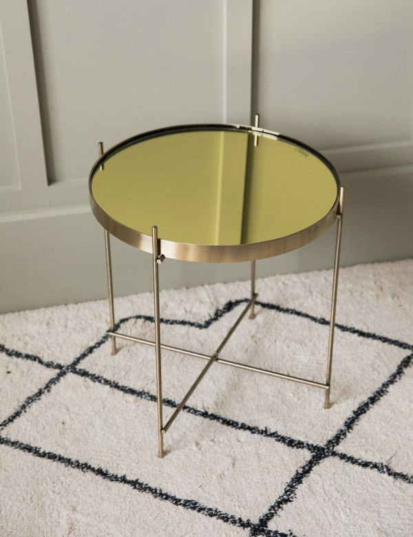 Mona Side Table - Gold by Zuiver