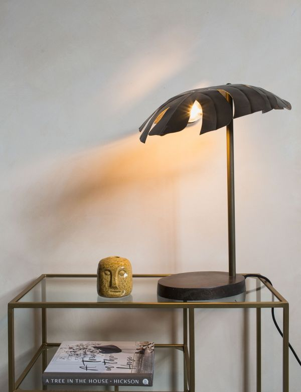 Monstera Iron Table Lamp