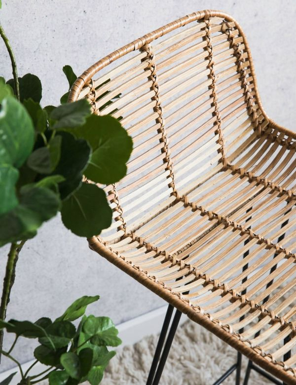 Natural Rattan Bar Stool