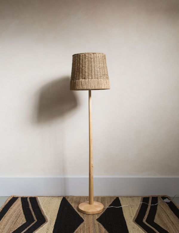 Natural Rattan Floor Lamp