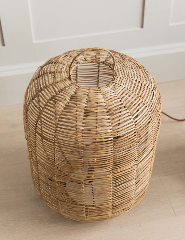 Noko Wicker Table Lamp - Two Sizes Available