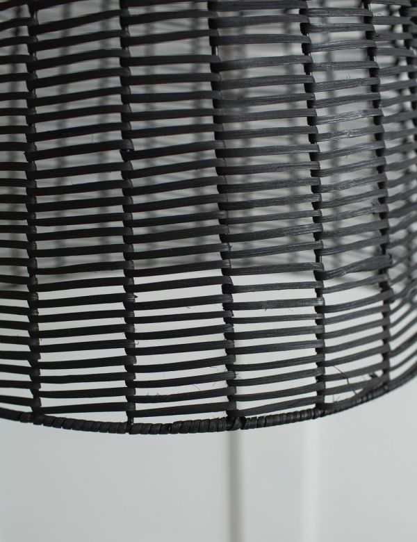 Noko Wicker Conical Pendant - Black - Two Sizes Available