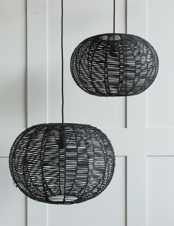 Noko Wicker Conical Pendant