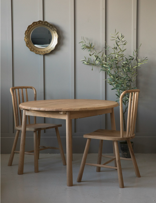 Nordic Round Extending Dining Table