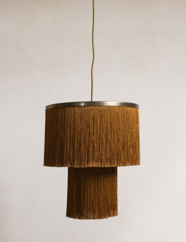 Ochre Tasseled Pendant Lamp Shade