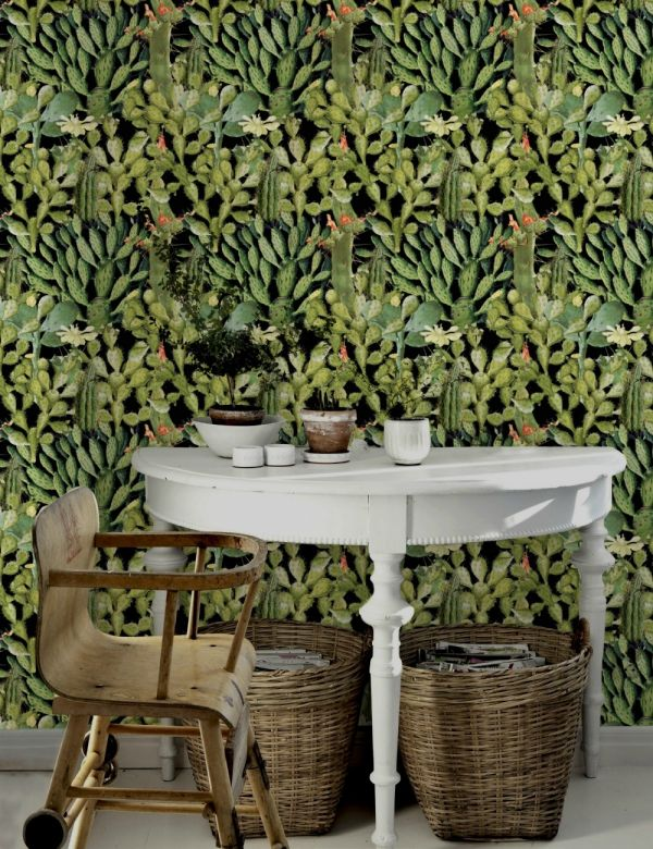 Mind The Gap Wallpaper Collection - Opuntia Anthracite