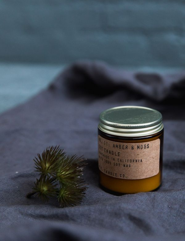 P.F Candle Co. No. 11 Amber & Moss Small Soy Candle