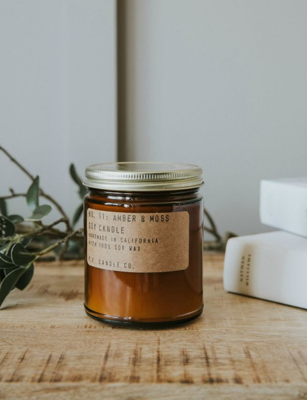 P.F Candle Co. No. 11 Amber & Moss Soy Candle