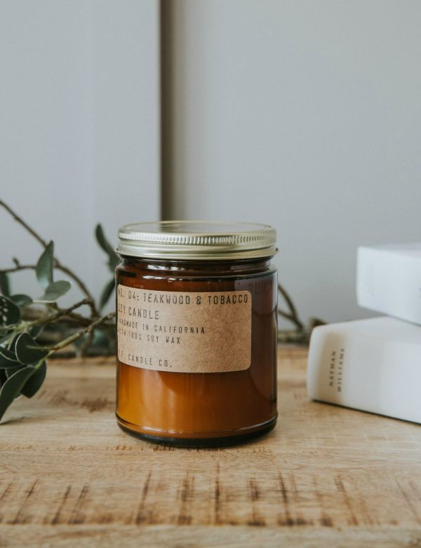 P.F Candle Co. No. 04 Teakwood & Tobacco Soy Candle
