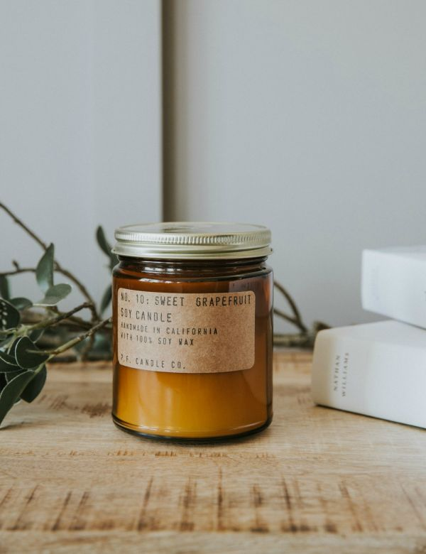 P.F Candle Co. No 10 Sweet Grapefruit Soy Candle