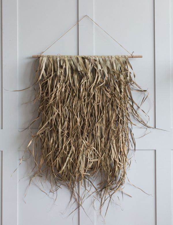 Palm Leaf & Bamboo Wall Decoration - Small