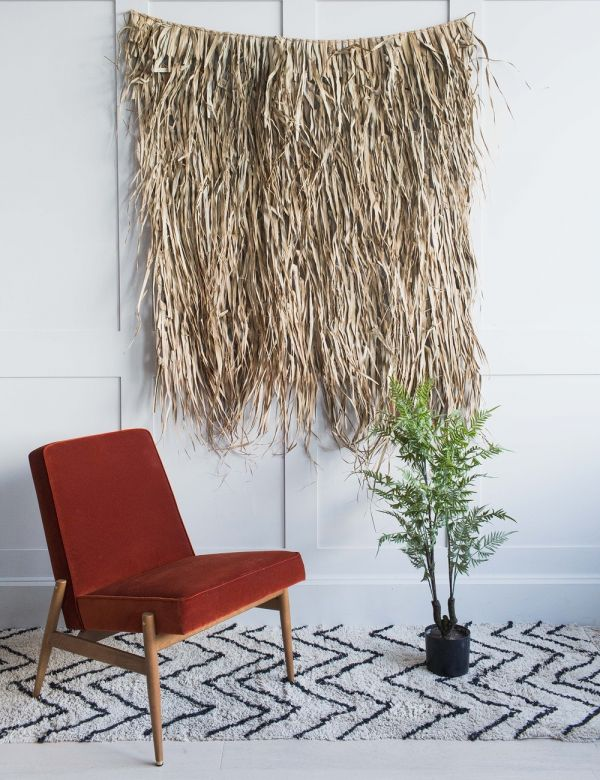 Palm Leaf & Bamboo Wall Decoration
