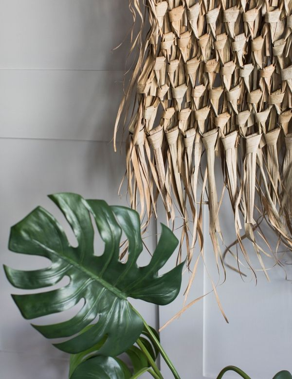 Palm Leaf & Bamboo Wall Decoration - Large