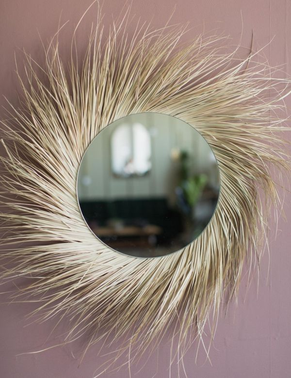 Palm Leaf Mirror