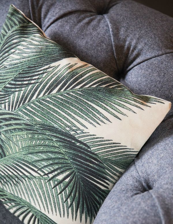 Palm Leaf Print Cushion