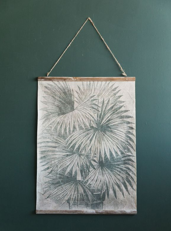 Palm Leaves Vintage Wall Chart