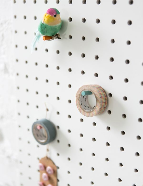 Pegboard in White