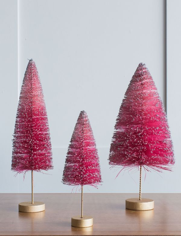 Pink Glitter Christmas Tree - Three Sizes Available