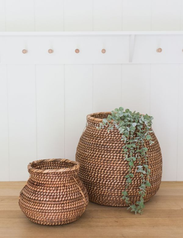 Rattan Storage Basket - Two Sizes Available
