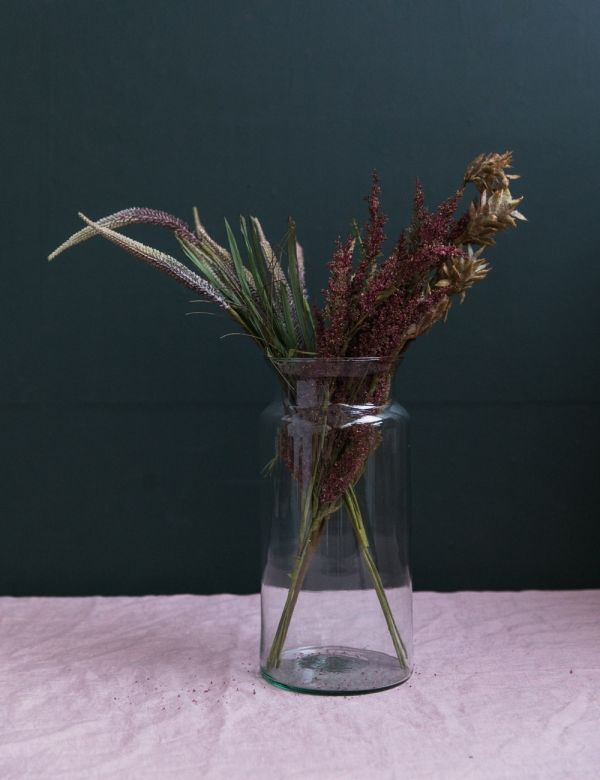 Recycled Tall Glass Vase