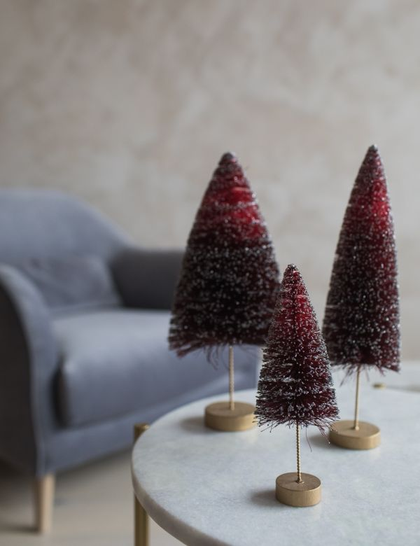 Red Glitter Christmas Tree - Three Sizes Available