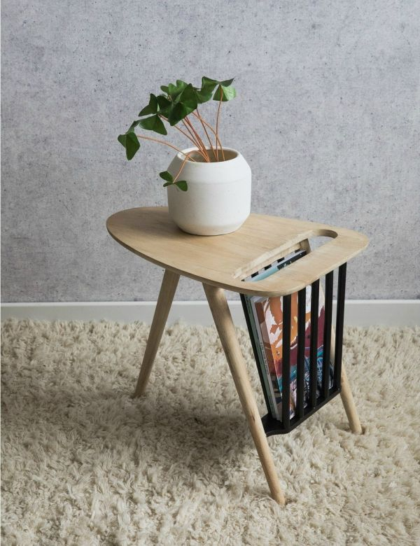 Retro Wooden Magazine Table