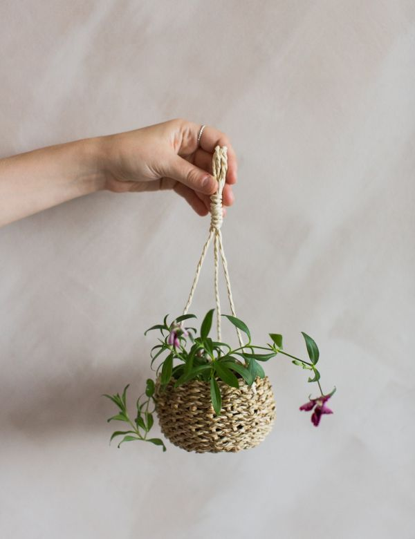 Tiny Hanging Basket Plant Holder