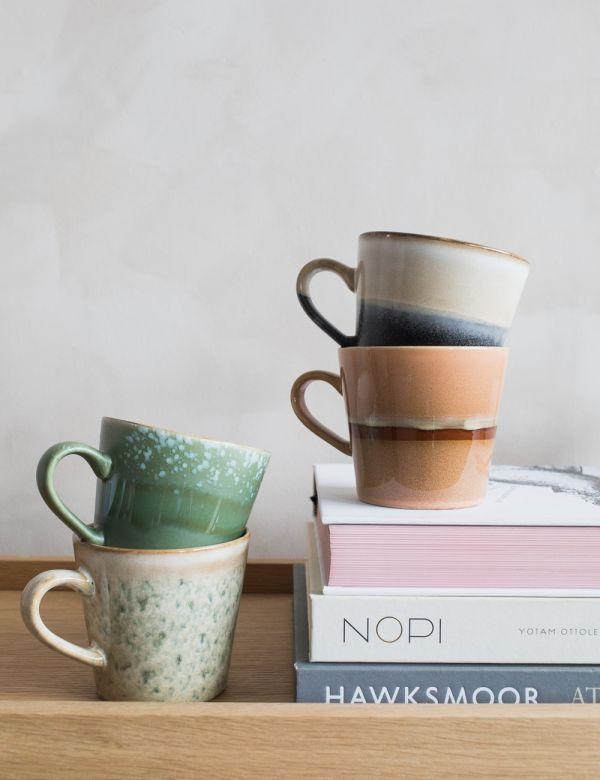 Set of 4 Pastel Coffee Mugs