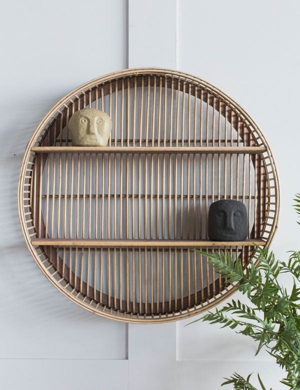 Round Bamboo Shelf